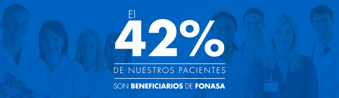 42% beneficiarios Fonasa
